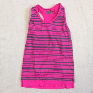 Women's Athleta gray hot pink Racerback tank top